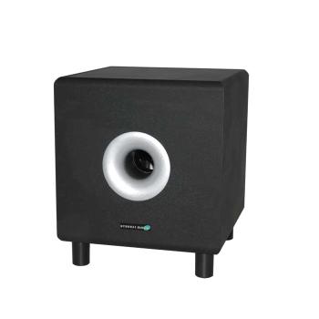 actieve subwoofer 20 cm zwart. Black Bedroom Furniture Sets. Home Design Ideas